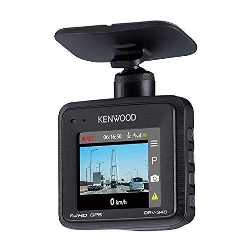 KENWOOD  ドライブレコーダー  DRV-340 Full HD ノイズ対策済 夜間画像補正 LED信号対応 専用SDカード(16GB)付 1年保証 Gセンサー 衝撃録画 駐車監視機能付 GPS ケンウッド