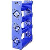 YANFEI 4階建てシューズラックシンプルな家庭用スペース省スペース型ドミトリーバルコニー (色 : Blue)