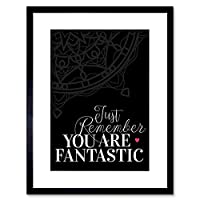 Motivational Quote You Fantastic Framed Wall Art Print 意欲的な見積もり壁