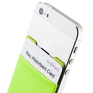 スマホ手帳型ケース+電磁波干渉防止シート 定期入れ、カード入れができるsinji スマートポケット iphoneケース手帳型+全ての機種対応 Suica PASMOを入れて おサイフケータイに使える Sinjiポーチベーシック2+電磁波防止カード,ライトグリーン