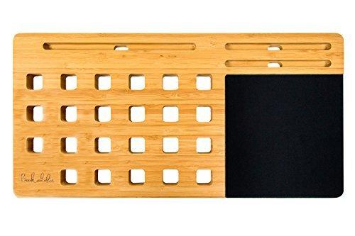 Laptop Lapデスクトレイボード、竹マルチタスクノート...
