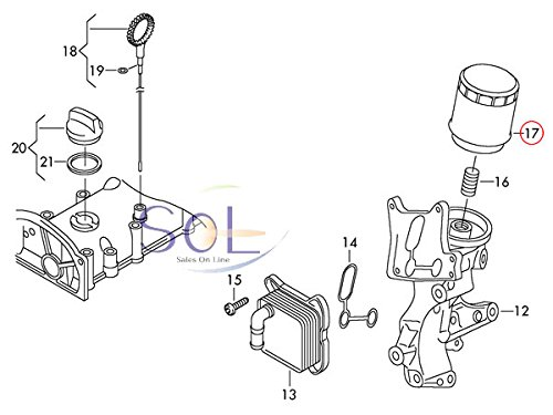 VW パサートCC トゥーラン ビートル シャラン オイルフィルター オイルエレメント 03C115561B 03C115561D 03C115561J 03C115561H