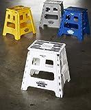 GORDON MILLER フォールディングステップ ガレージ 洗車 DIY H40×W39×D32(使用時) 踏み台 折りたたみ 耐荷重150㎏ ホワイト 1494259