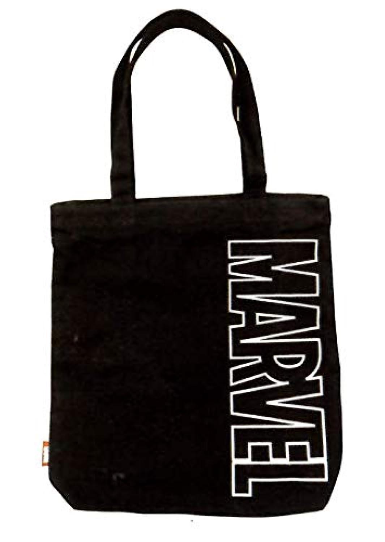MARVEL/マーベル トートバッグ 天面ファスナー?内ポケット付き(クロ) 49997