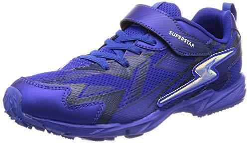 dca7f7c94e6 [スーパースター] 運動靴 通学履き 軽量 マジック ゆったり キッズ SS J888 ブルー 24 cm 2E 「バネのチカラ。」 子どもたちの「速く走りたい」という想いから生まれた  ...