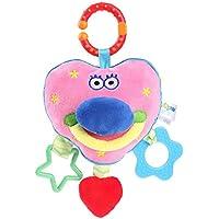 Domybest ラトル 布製玩具 ぬいぐるみ ガラガラ 赤ちゃん 振り玩具 フレンドベル 新生児 出産祝い プレゼント 可愛い 手の鳴らす鈴 色 聴覚に刺激 知育玩具 安全材料