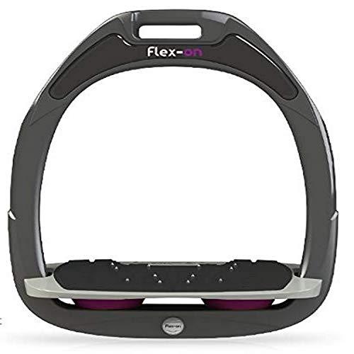 【Amazon.co.jp 限定】フレクソン(Flex-On) 鐙 ガンマセーフオン GAMME SAFE-ON Mixed ultra-grip フレームカラー: ダーク グレー フットベッドカラー: グレー エラストマー: プラム 99246