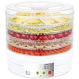食品脱水装置5層スタッカブルトレイフルーツ乾燥機,調節可能な温度35?68℃,果物、野菜、肉乾燥機 350W