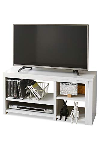 JKプラン コンパクト 伸縮 テレビ台 オープン ローボード コーナーテレビ台 スライド テレビラック FTV0003WH