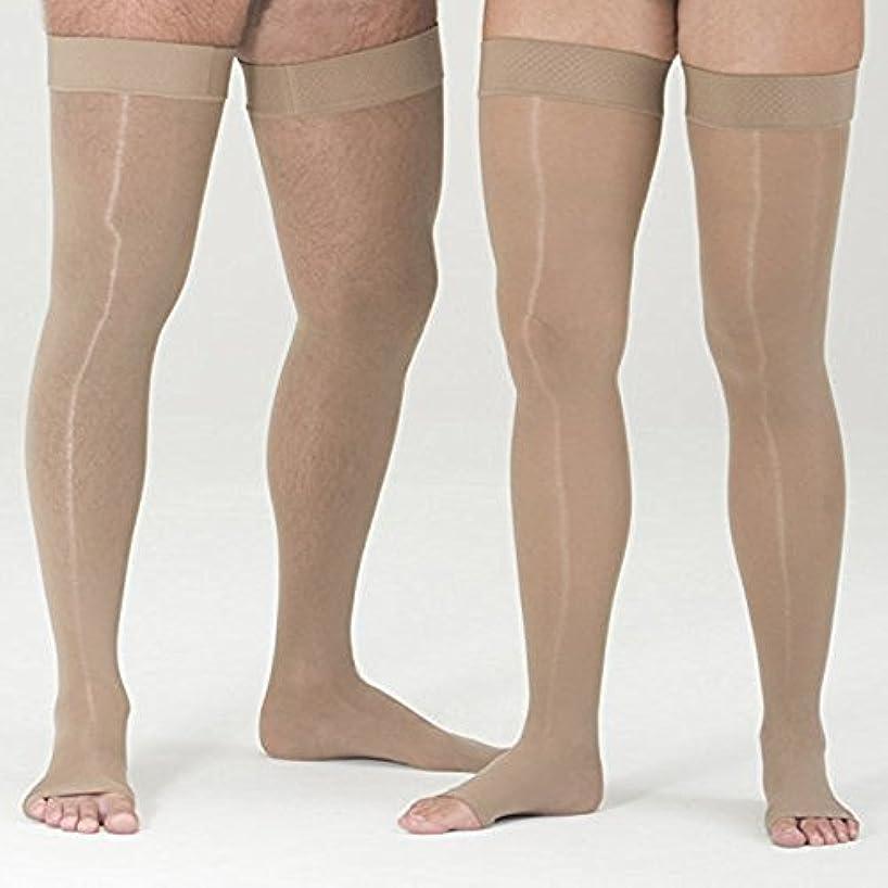 協同特殊現象Mediven Assure, Opened Toe, with top band, 30-40 mmHg, Thigh High Compression Stocking, Beige, Small by Medi