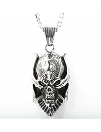 「silverKYASYA」ステンレス素材 牙狼ネックレス GARO ガロ ペンダント スカル ネックレス ドクロ 髑髏 (60)