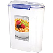 Sistema Klip It 4.2 Litre Cereal Container, Clear