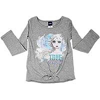 Girls Frozen Long Sleeve Shirt, Elsa, Anna