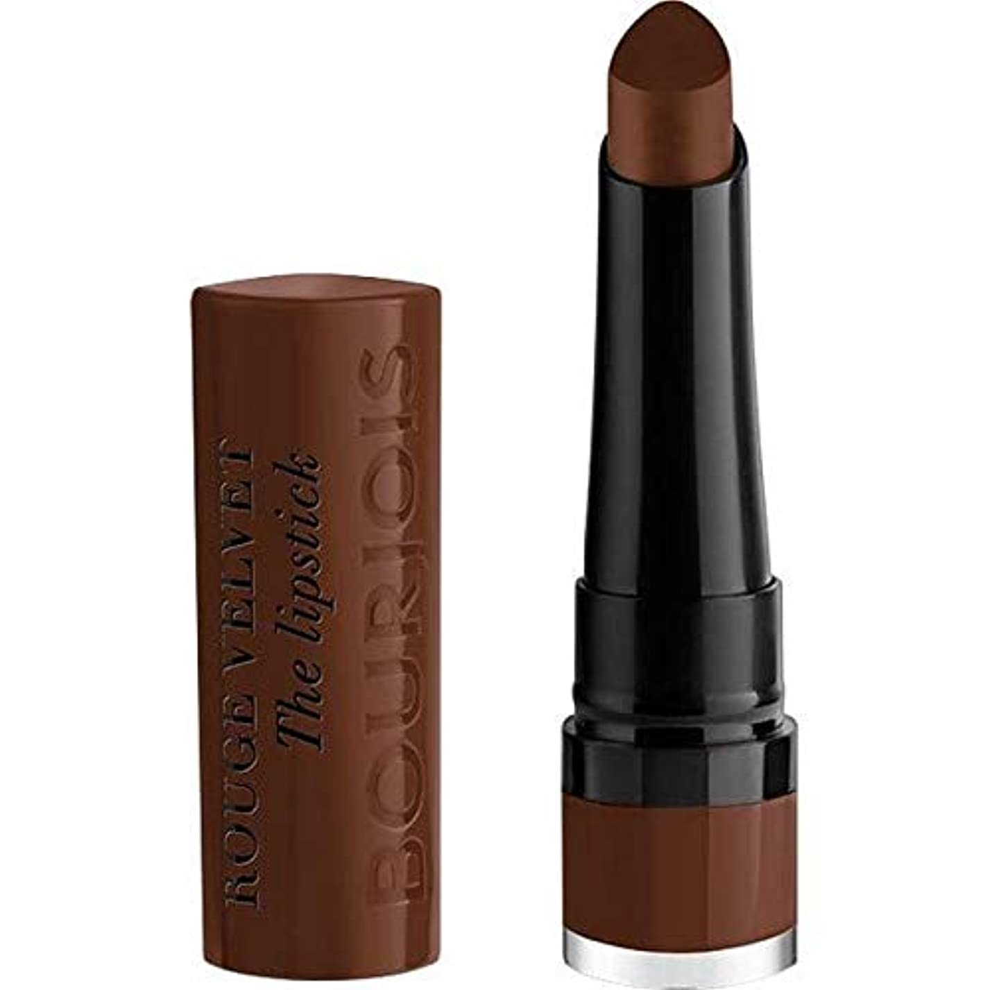 レトルト厚さ統治可能[Bourjois ] ブルジョワルージュのベルベット口紅マカブラウン - Bourjois Rouge Velvet Lipstick Maca Brown [並行輸入品]