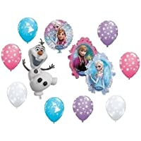 loonballoon Frozen Elsa Anna Olafスノーフレークブルー11 Party Mylar &ラテックス装飾バルーン