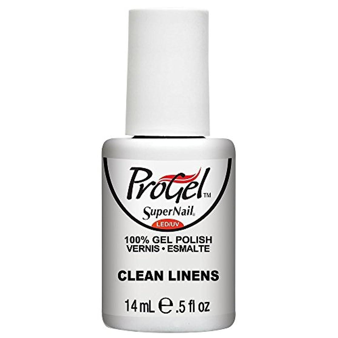 チャレンジ全体細いSuperNail ProGel Gel Polish - Clean Linens - 0.5oz / 14ml