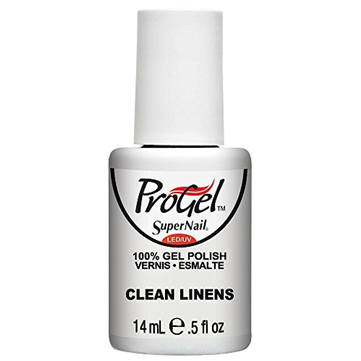 当社平日ストロークSuperNail ProGel Gel Polish - Clean Linens - 0.5oz / 14ml