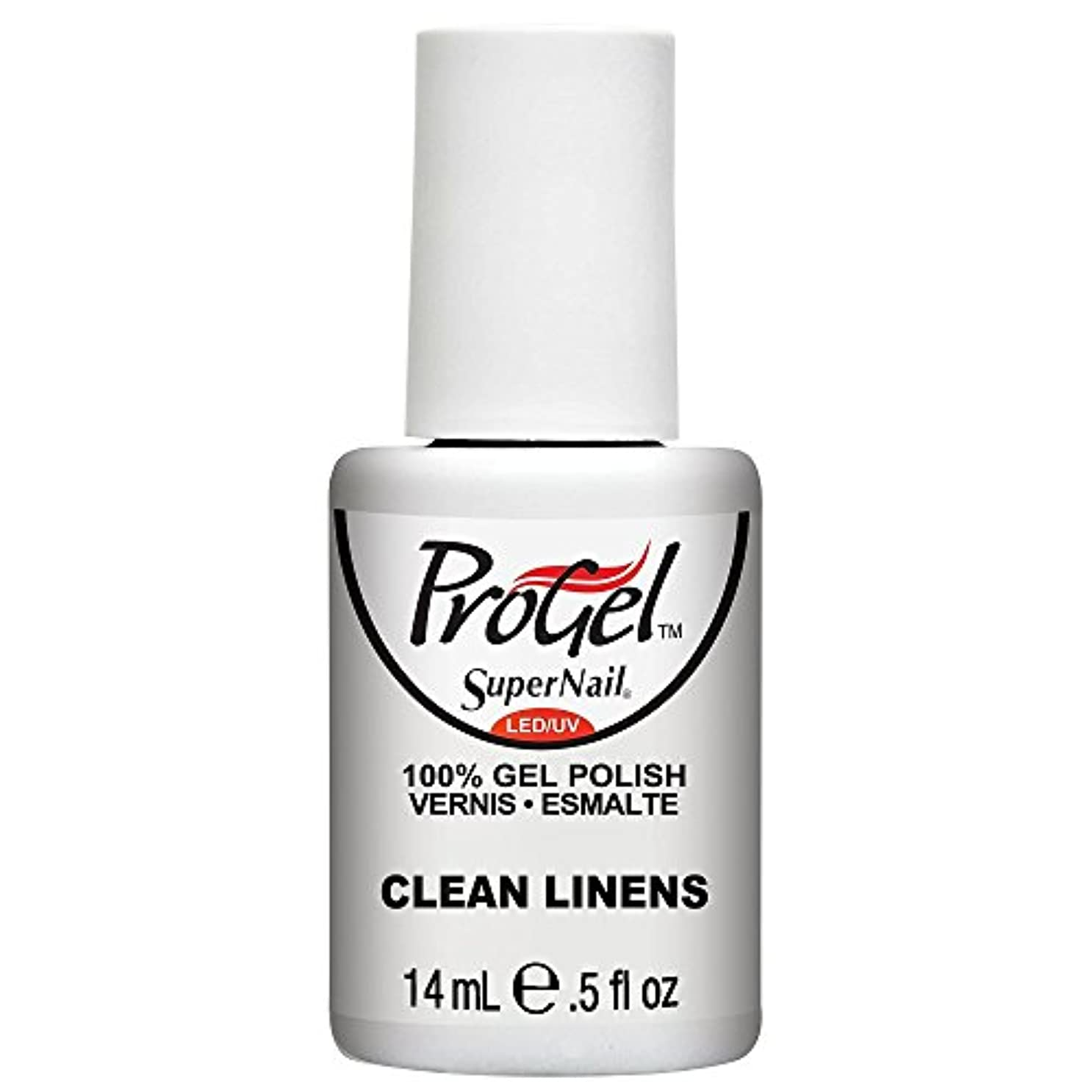 ログ嫌悪過去SuperNail ProGel Gel Polish - Clean Linens - 0.5oz / 14ml