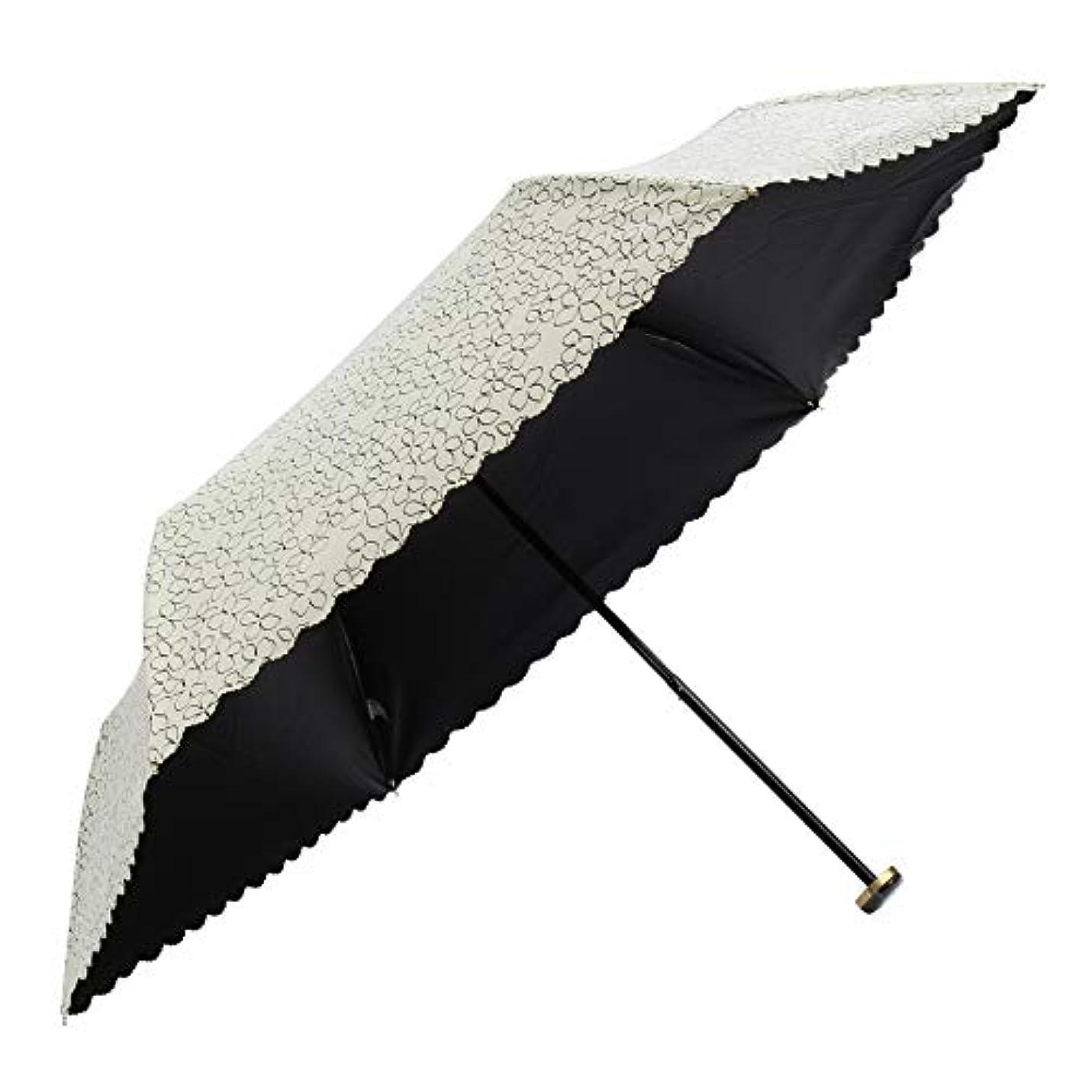 先祖バットありふれたa.s.s.a 日傘 折りたたみ uvカット 100 遮光 軽量 晴雨兼用 遮熱効果 UV 99.9%以上 3段伸縮 ミニ傘 50cm 花柄 フローラ(FM148)