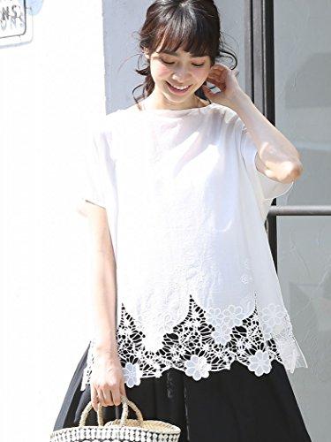 (コーエン) COEN 裾レースコンビボートネックTシャツ(ブラック→WEB限定カラー) 76256008053