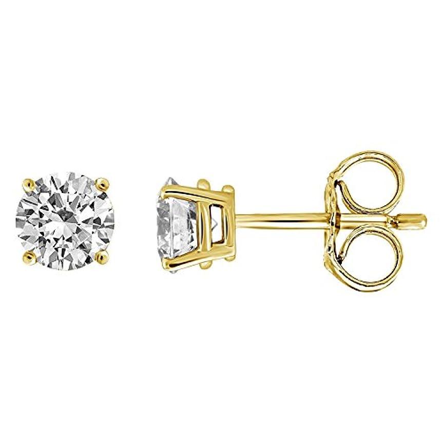 あからさまデコードする戸惑うIGI認定ダイヤモンドメンズのスタッドイヤリング14 Kゴールド、ダイヤモンドジュエリーセット