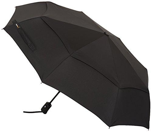 Amazonベーシック・自動折りたたみ傘 通風孔付き、ブラック
