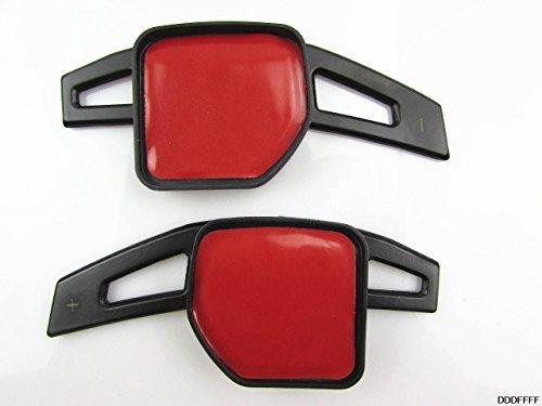 leihuo AUDI アウディ アルミニウム金属 パドルシフト 社外品 (ブラック)