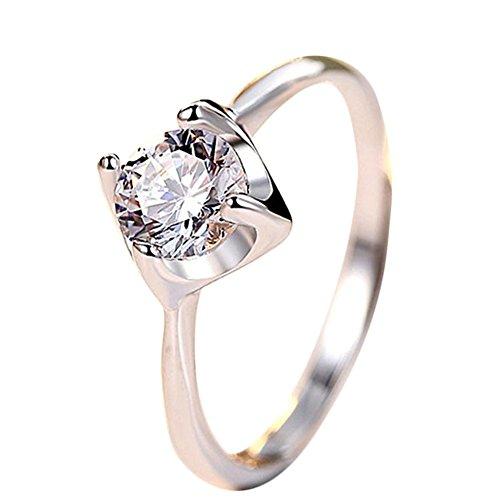 [해외]Doitsa 링 반지 프리 사이즈 조절 반짝이 손 장식 생일 크리스탈 웨딩 결혼 기념일 패션 간단한 선물 여성/Doitsa ring ring Free size adjustable glittering hand decoration birthday crystal wedding engagement anniversary fashion simple gif...