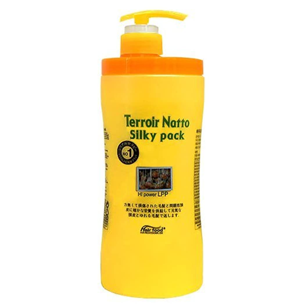 メモカプセルアンテナテロワール 納豆 シルキー パック ハイ パワー LPP 1000ml ヘア パック トリートメント - ビフォー アフター ケミカル トリートメント ( Terroir Natto Silky Pack Hi Power...