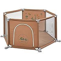 ベビーサークル 赤ちゃんの遊び場の幼児の遊び場庭の家庭用茶色の漫画のゲームのフェンス屋内遊び場、6パネル