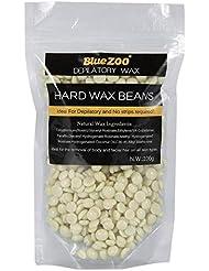 ワックス脱毛ワックスヒーター+ 4 x 100g異なるワックス豆+ 10個ワックススティックプロフェッショナルワックス脱毛セット(クリーム)