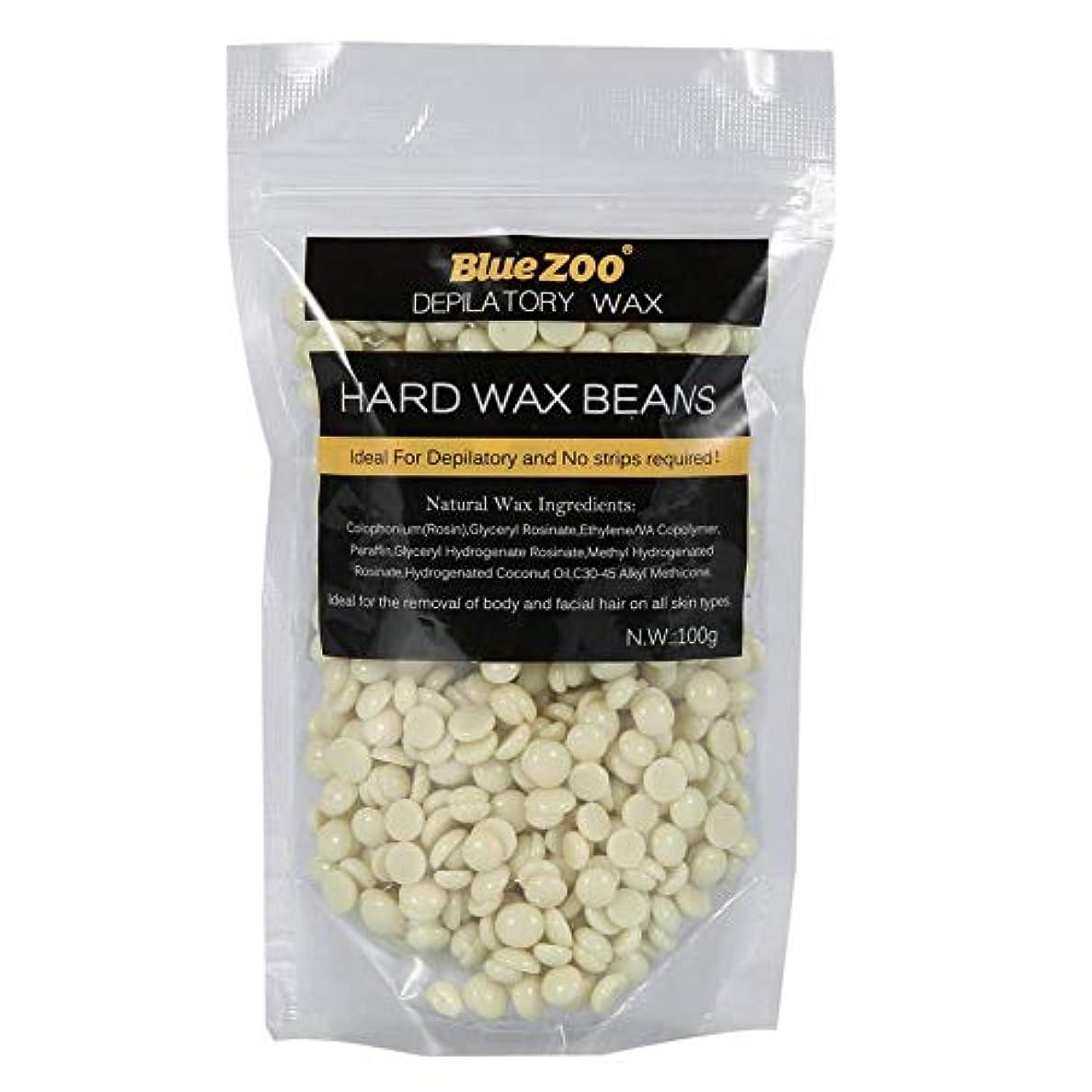 脅迫名誉ある取得するワックス豆 100g ストリップ 腕 脚 脱毛ハードワックス 10色選択