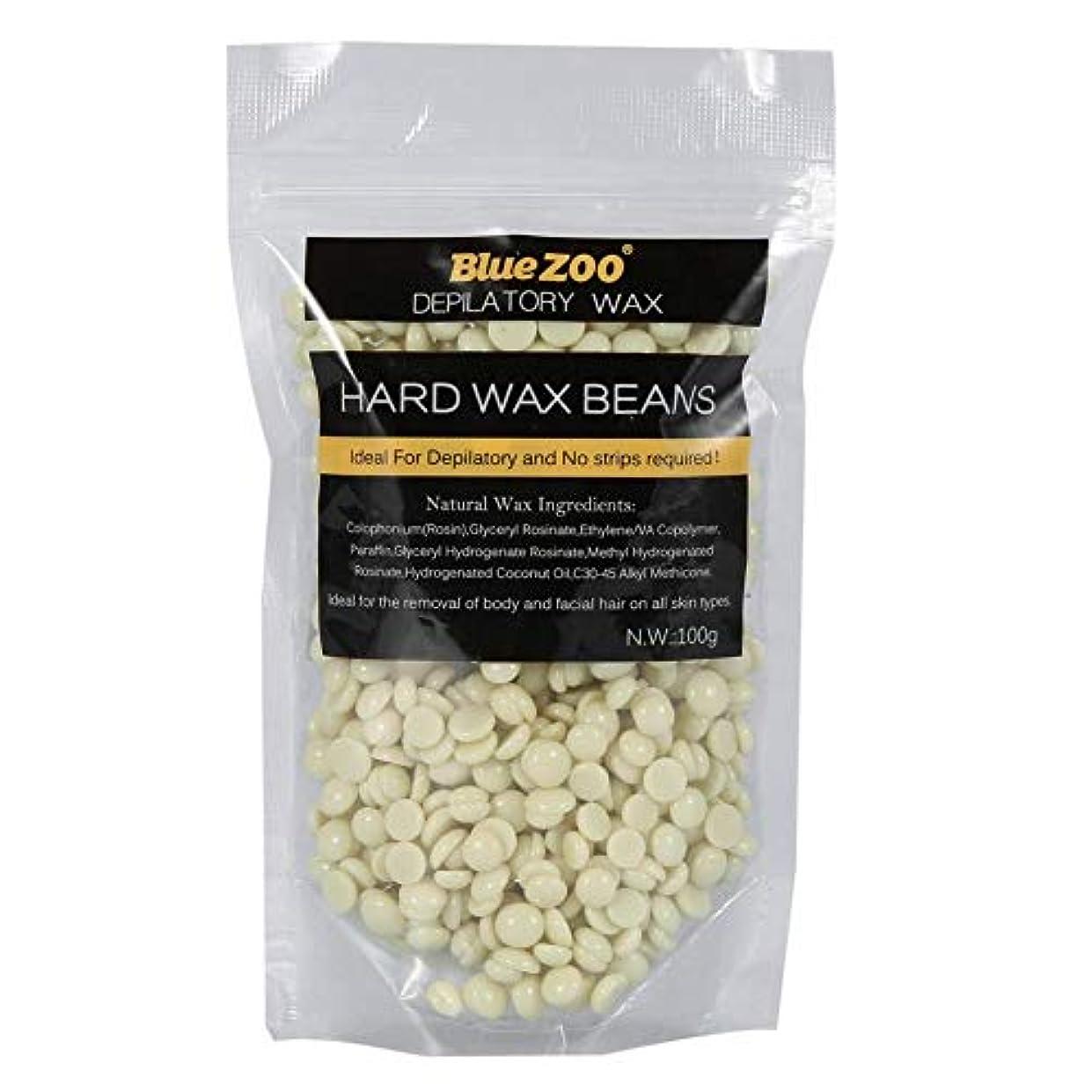 弾性粘性の接続ワックス豆 100g ストリップ 腕 脚 脱毛ハードワックス 10色選択