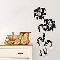Ansyny 花ウォールステッカー女の子のための部屋の装飾ビニール防水壁アートデカール家の装飾アクセサリー98 * 43 Cm