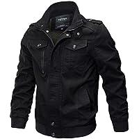 Men's Spring Autumn Lightweight Cotton Windbreaker Multi-pocket Jacket Military Zipper Bomber Cargo Outwear Jackets Coat Parka