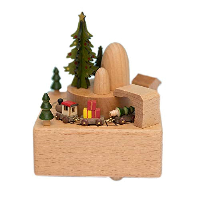 楽しい品質の木製のミュージカルボックスバレンタインデーの誕生日Gif、小さな、移動する磁気カーで凱旋門を演奏 - 上海オリエンタルパールは、スカイソングで城を演奏する