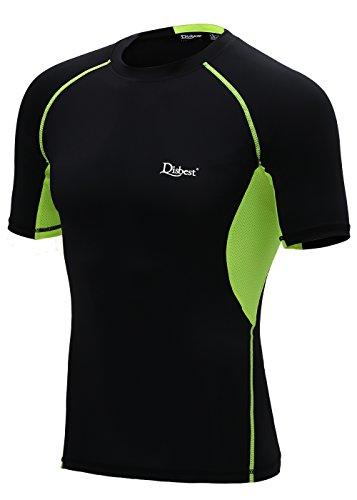 スポーツシャツ メンズ DISBEST インナー シャツ 半袖 ラウンドネック 吸汗速乾 パワーストレッチ