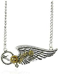 AmaranTeen – スチームパンクネックレス&ペンダントシルバーカラー天使の翼