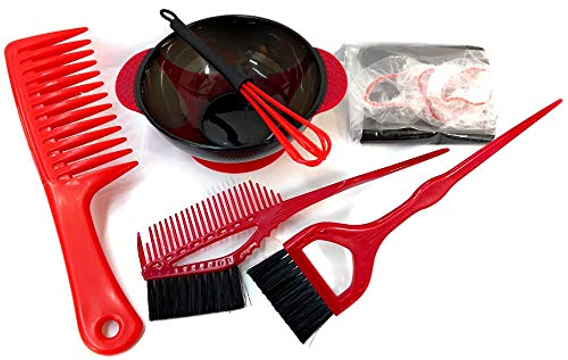 癒すアクロバット遺体安置所?高品質? BOB STYLE セルフヘアカラー プロ仕様7点セット(RED) ブリーチ?縮毛矯正?トリートメント?白髪染めにも使用可