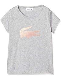 [ラコステ] GIRLS フロッキーロゴプリントTシャツ TJ9807L