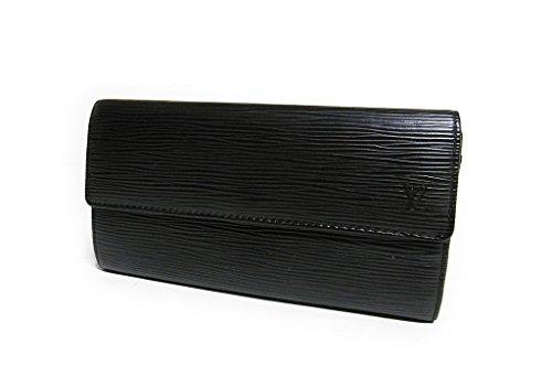 LOUIS VUITTON(ルイヴィトン) エピ 二つ折り長財布「ポルトフォイユ サラ」 ノワール M63742