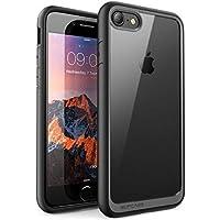 SUPCASE iPhone8/iPhone7 ケース 背面クリア 耐衝撃 黒
