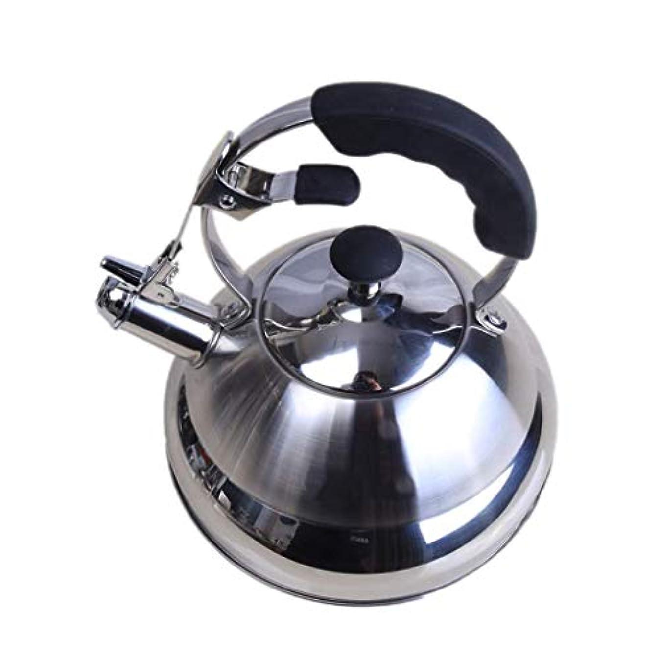 ピアースファブリックドロー電気ケトル、2.5Lキャンプ口笛ケトルティーポットは、電磁調理器のガスストーブに適用できます。