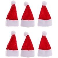 Dovewill 6個入り ドールハウス クリスマス サンタクロース帽子 ミニチュア