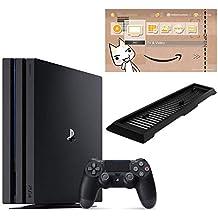 PlayStation 4 Pro ジェット・ブラック 2TB【Amazon.co.jp限定】アンサー 縦置きスタンド付 & オリジナルカスタムテーマ (配信)