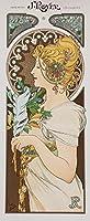 絵画風 壁紙ポスター (はがせるシール式) アルフォンス・ミュシャ 羽根 1899年 Feather アールヌーヴォー キャラクロ K-MCH-047S1 (576mm×1398mm) 建築用壁紙+耐候性塗料