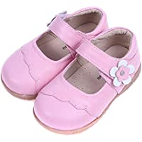 SandQ baby Girls Pink Leather Mary Jane (Ages 1.5 to 2.5 yrs)