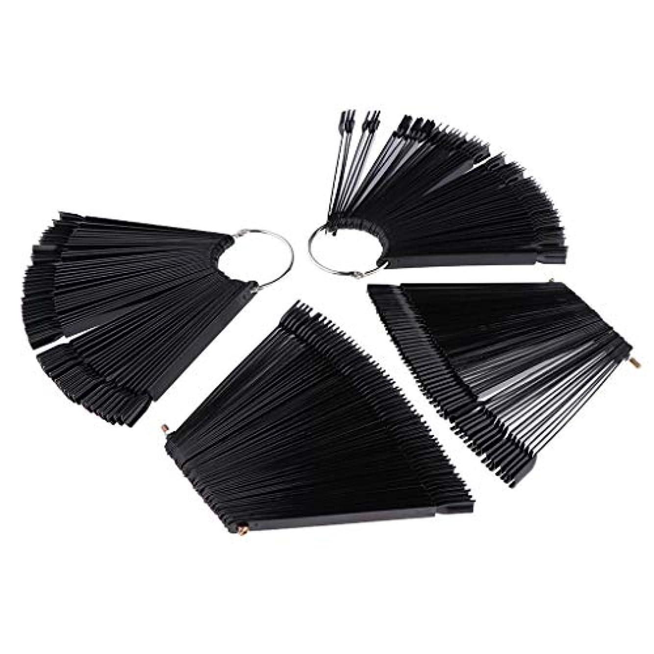 黒板ローマ人スズメバチToygogo ネイルアート マニキュア カラー ディスプレイ パレット カラー表示 プラスチック ブラック