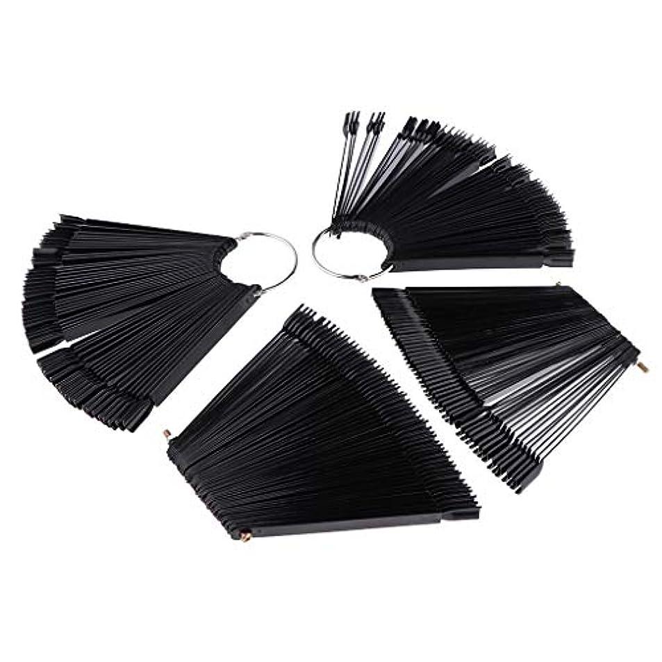 食事前書き終わらせるToygogo ネイルアート マニキュア カラー ディスプレイ パレット カラー表示 プラスチック ブラック