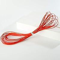 1ピース0.5ミリメートル韓国ロープ* 4メートルワックス文字列穴玉ビーズワイヤーロープオックdiyロープネックレスワックスコードジュエリー所見&コンポーネント#1093 FZ202